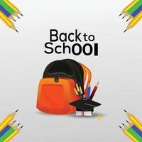 Blackboard background for back to school vector