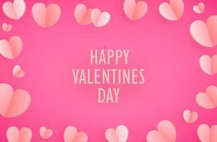Feliz día de San Valentín. plantilla para tarjeta de felicitación, portada, presentación vector