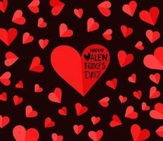 Valentines Day celebration vector banner