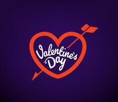 Vallentines day vector logo design