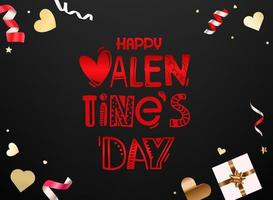 Happy Valentines Day vector card