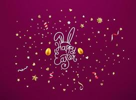 Happy Easter vector illustration with lettering inscription
