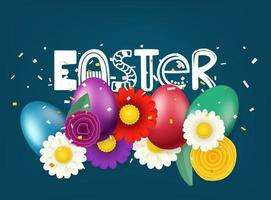 Happy Easter greeting vector card