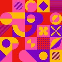 Abstract mosaic style geometric pattern vector