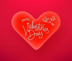 Valentines Day celebration vector banner with beautiful heart