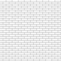 White background of bricks. Abstract seamless pattern vector