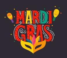 Mardi Gras Carnival party vector banner