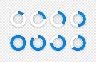 Plantilla de precargador de aplicaciones web y móviles aislada sobre fondo transparente vector