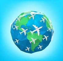 Modern aircrafts traffic vector illustration