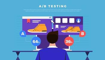 Vector illustrations design concept AB Testing. System Method Modern graphic, Web Banners, Suitable for Diagrams, Infographics. Vector illustrate.