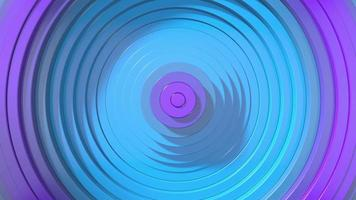 4K cyan-purple 3D circle waves motion background