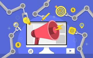 Automation Marketing Megaphone vector