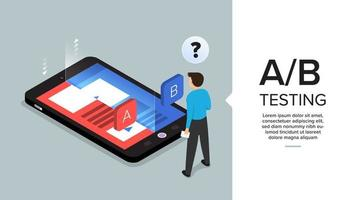 AB Testing on Phone vector