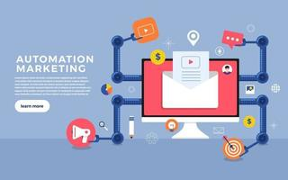 Automation Marketing Icons vector