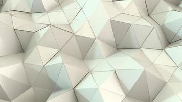 polígonos fracturados de color blanco suave con bordes dorados, movimiento de superficie con luces suaves y sombras