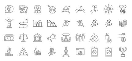 Business Presentation Icon set. vector