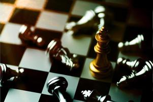 Chess board game to practice planning and strategy photo