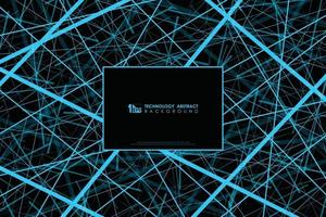 Abstract blue line tech design of futuristic pattern background. illustration vector eps10