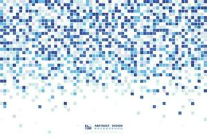 Abstract blue square pattern design 8bit decorative for minimal technology. illustration vector eps10