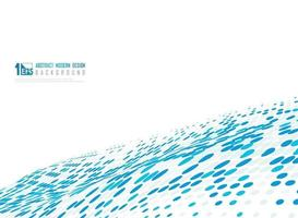 Abstract blue dots halftone minimal design of decoration background. illustration vecto eps10 vector