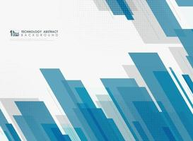 Abstract blue tech template design decoration with halftone background. vector eps10