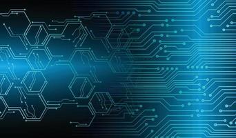 Fondo de concepto de tecnología futura de circuito cibernético azul vector