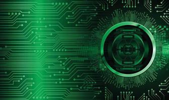 Fondo de concepto de tecnología futura de circuito cibernético verde vector