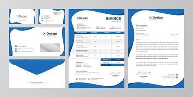 conjunto de identidad de marca empresarial corporativa vector