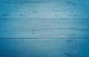 Blue vintage wood texture table background photo