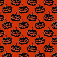 Halloween Background Pattern - Pumpkins vector
