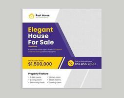 Real estate digital marketing promotion social media cover banner template