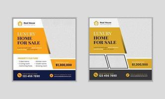 Real estate digital marketing promotion social media post banner template