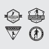 plantilla de vector de diseño de logotipo de insignia de fútbol