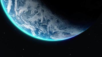 Beautiful Earth Animation Captured from Below
