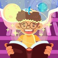 The Miracle of Book vector