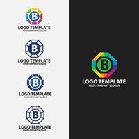 B LETTER LOGO DESIGN TEMPLATE vector