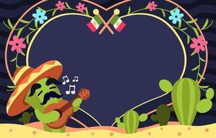 Cute Cactus of Cinco de Mayo vector