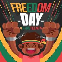 Freedom Day Juneteenth vector