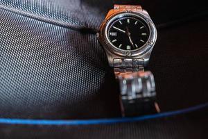 primer plano, de, un, reloj de pulsera foto