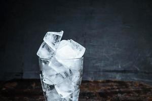 Ice in a glass photo