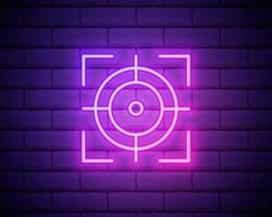focus neon icon. Elements of photography set. Simple icon for websites, web design, mobile app, info graphics isolated on brick wall vector