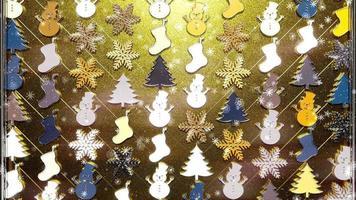 glitter de natal brilhante com partículas douradas