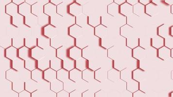 Honeycomb Grid or 3 D Hexagons Background Video