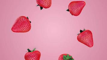 Beautiful Strawberries Motion Graphics Video