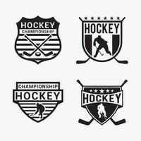 Hocke Club Logo Badges vector design templates