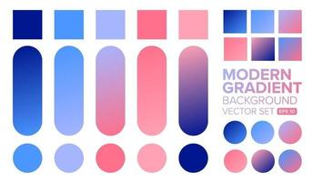 Set of colorful modern gradient backgrounds vector