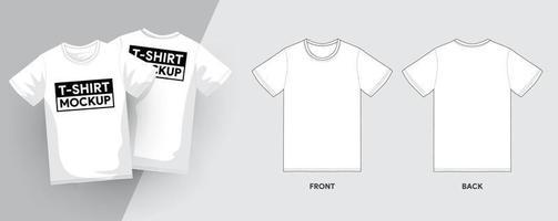 plantillas gráficas de maquetas de ropa. camiseta de manga corta vector