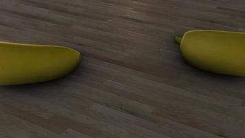 plátanos moviéndose sobre una mesa circular video