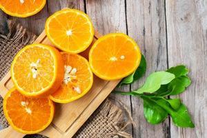 primer plano, de, rodajas de naranja foto