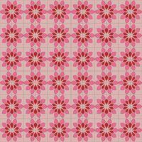 floral ethnic pattern design background vector